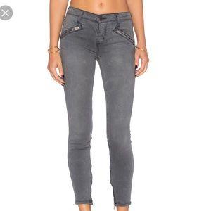 Current Elliot Dazzler Gray Skinny Zip Jeans